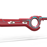 Small Sword Monado from Xenoblade Chronicles 3D Printing 237589