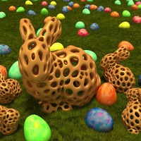Small Stanford Bunny - Voronoi Style 3D Printing 23761