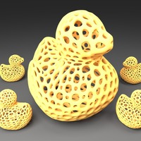 Small Rubber Duck - Voronoi Style 3D Printing 23766