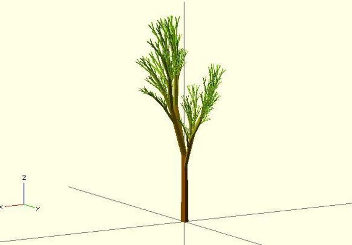 Truly recursive and random Tree (Not just pseudo recursive) 3D Print 23779
