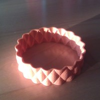Small BumpBangle - rotated and solidified 3D Printing 23790