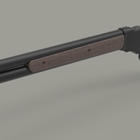Small Winchester Model 1887 3D Printing 237925