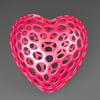Small Heart - Voronoi Style 3D Printing 23797