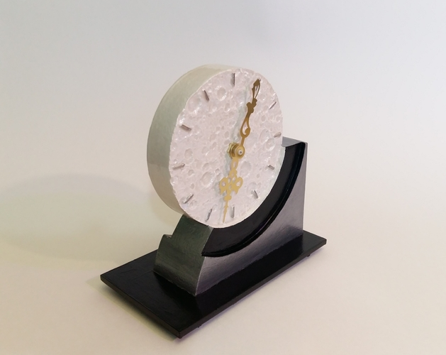 Far Side of the Moon Art Deco Clock 3D Print 238059