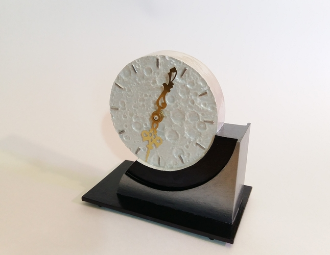Far Side of the Moon Art Deco Clock 3D Print 238061