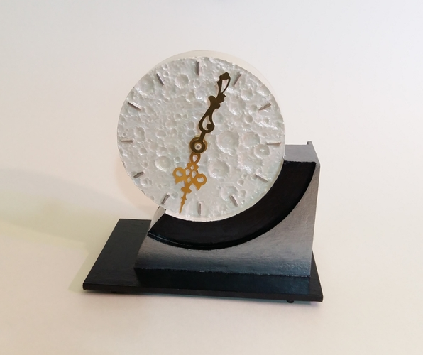 Far Side of the Moon Art Deco Clock 3D Print 238062