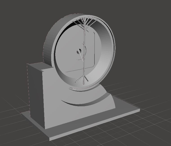 Far Side of the Moon Art Deco Clock 3D Print 238065
