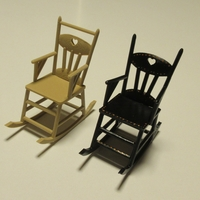 Small Rocking chair 1:12 3D Printing 238086