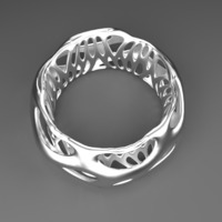 Small Beautiful Chunky Bracelet - Voronoi Style 3D Printing 23817