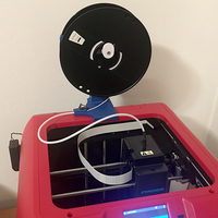 Small FlashForge Finder - Definitive Spool Holder Stand 3D Printing 238193