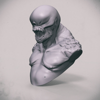 Small alien bust 3D Printing 238310