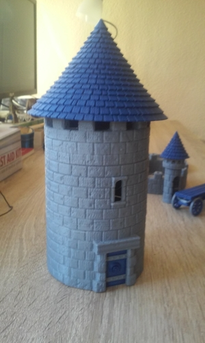 Modular Watchtower - WarGames - Scenary - UPDATE 3 3D Print 238435