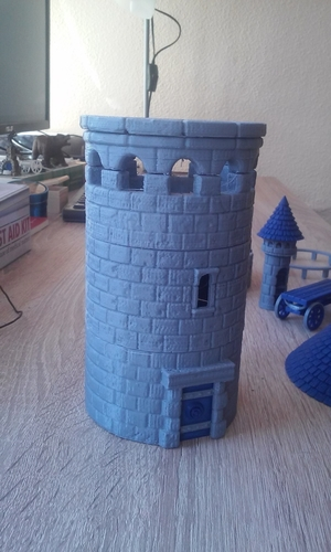 Modular Watchtower - WarGames - Scenary - UPDATE 3 3D Print 238436