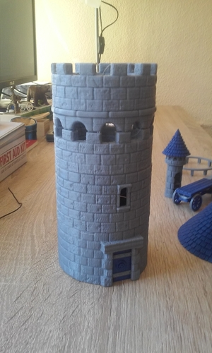 Modular Watchtower - WarGames - Scenary - UPDATE 3 3D Print 238437