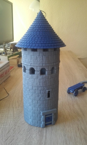 Modular Watchtower - WarGames - Scenary - UPDATE 3 3D Print 238439