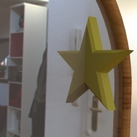 Small Half Star Mirror Accessory 3D Printing 238484