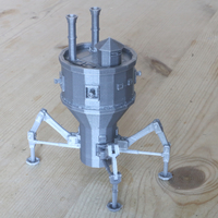 Small Steampunk Mobile Turret 3D Printing 238535