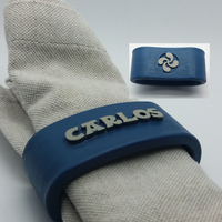 Small CARLOS 3D Napkin Ring with lauburu 3D Printing 238579