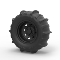 Small Diecast Wheel for sand 3D Printing 238661