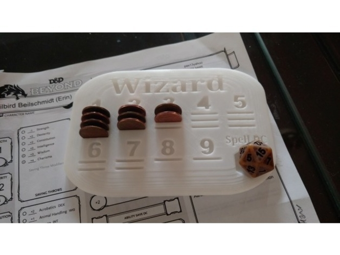 D&D 5th Spell Tracker 3D Print 238839