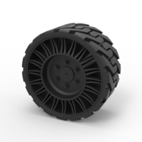 Small Diecast Twheel from Front loader 3D Printing 238853