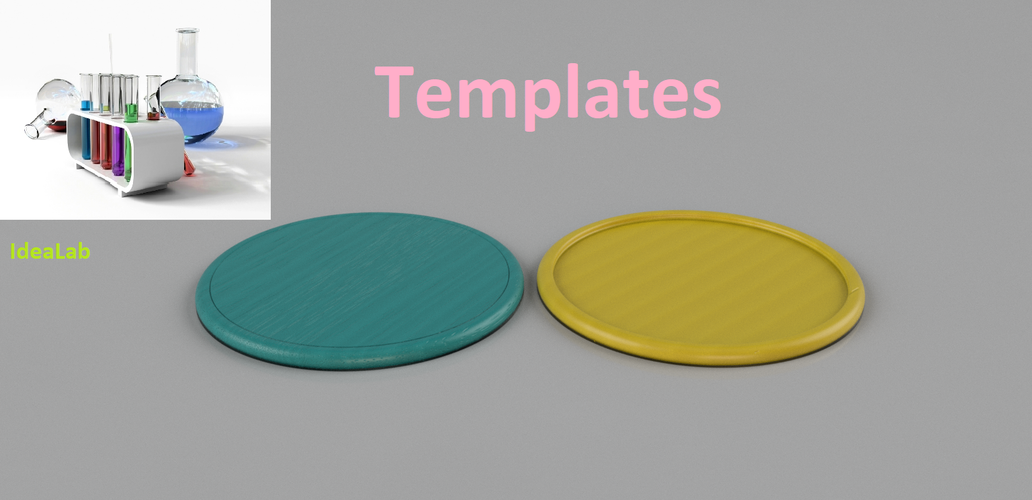 Templates for coasters 3D Print 238931