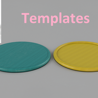 Small Templates for coasters 3D Printing 238931