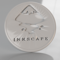 Small Inkscape coaster 3D Printing 239128