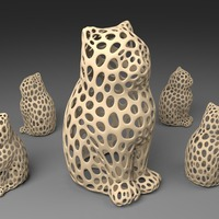 Small LASER CAT - Voronoi Style 3D Printing 23914