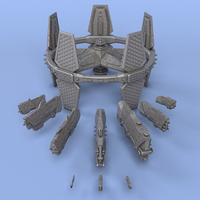 Small United Federation of Texas - Miniature Starships 3D Printing 239142