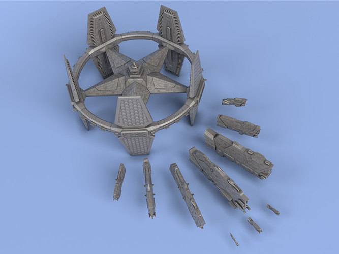 United Federation of Texas - Miniature Starships 3D Print 239143