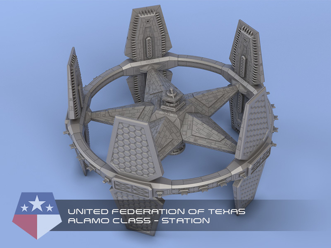 United Federation of Texas - Miniature Starships 3D Print 239144