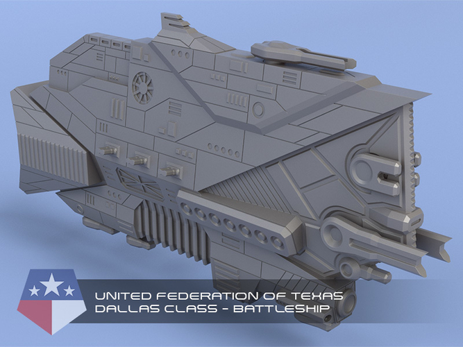 United Federation of Texas - Miniature Starships 3D Print 239145