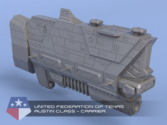 United Federation of Texas - Miniature Starships 3D Print 239146