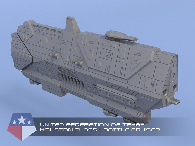 United Federation of Texas - Miniature Starships 3D Print 239147