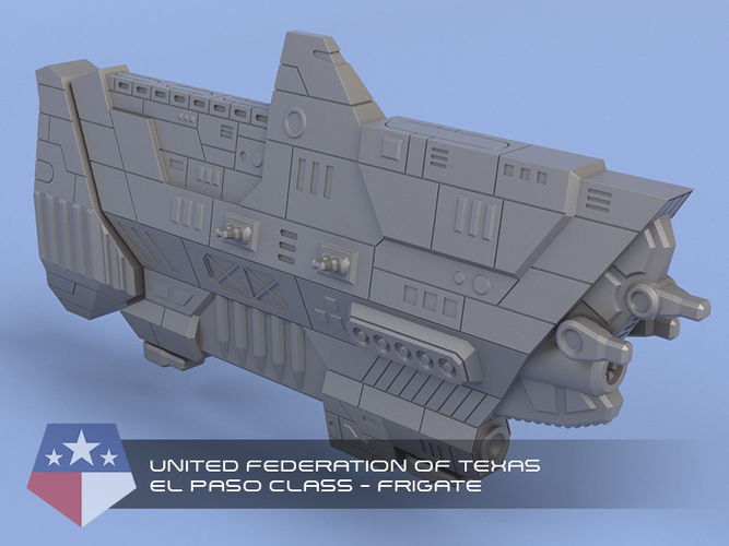 United Federation of Texas - Miniature Starships 3D Print 239148