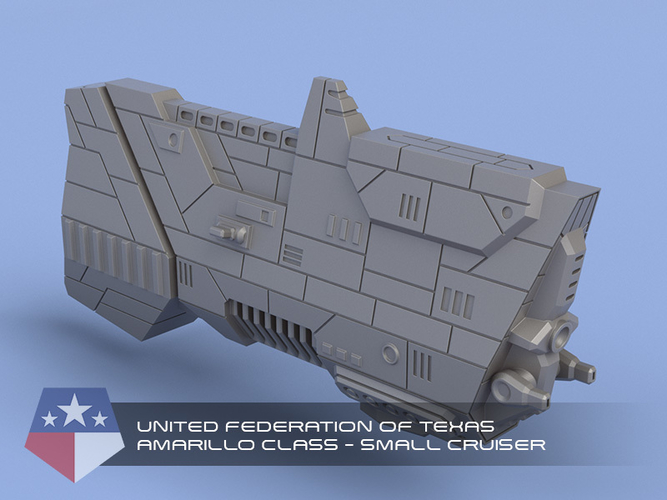 United Federation of Texas - Miniature Starships 3D Print 239150