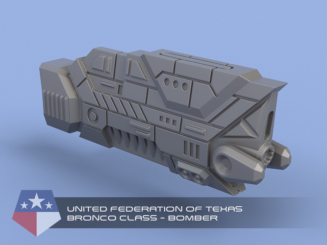 United Federation of Texas - Miniature Starships 3D Print 239153
