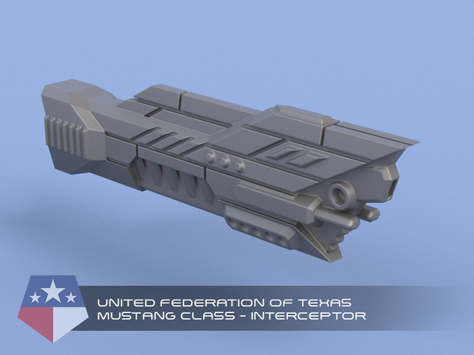 United Federation of Texas - Miniature Starships 3D Print 239154