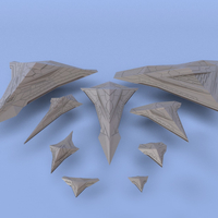 Small The Order of the Dark Star - Miniature Starships 3D Printing 239164