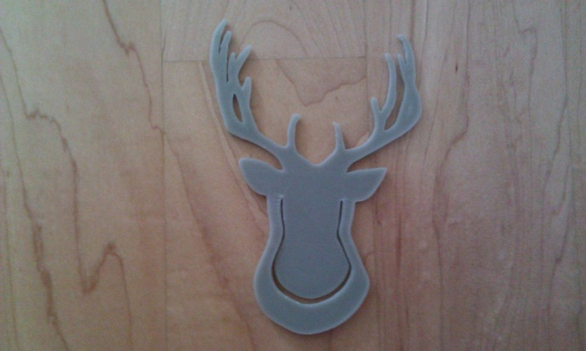 Deerhead - Clip on 3D Print 23920
