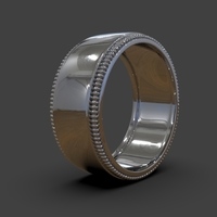 Small Wedding Ring US & Canada Sizes 3D Printing 239317