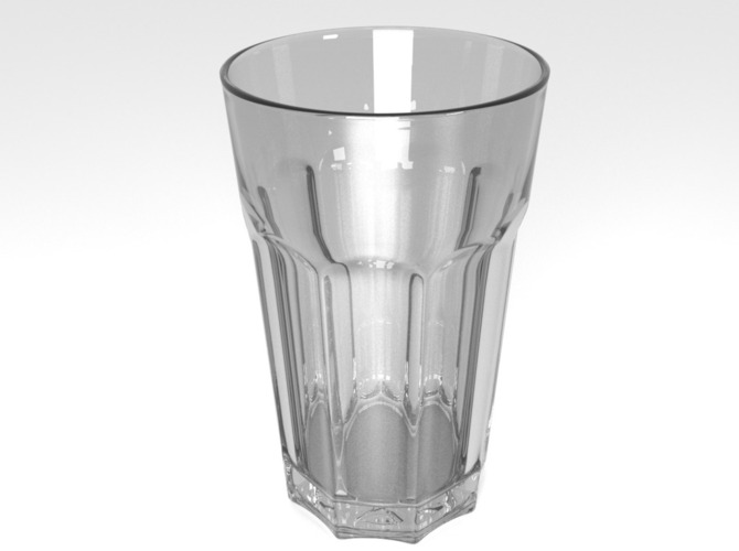 Drinking glass 3D Print 23932