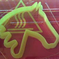 Small Horse Cookie Cutter 3D Printing 23938