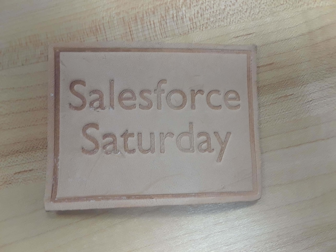 Salesforce Saturday leather stamps 3D Print 239488