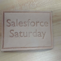 Small Salesforce Saturday leather stamps 3D Printing 239488
