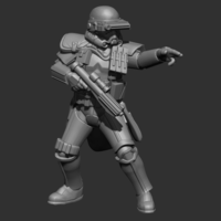 Small Authority Squad leader 3D Printing 239509