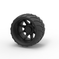 Small Diecast Offroad wheel 13 3D Printing 239534