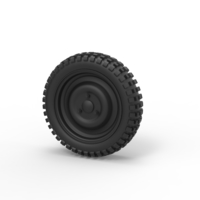 Small Diecast Offroad wheel 24 3D Printing 239612