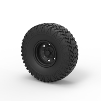 Small Diecast Offroad wheel 29 3D Printing 239648